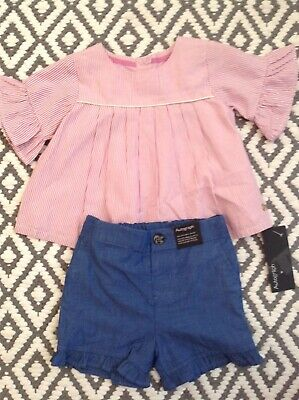 New M&S set top & shorts 3-6 mths top & shorts