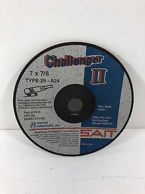United Abrasives Challenger II 7 x 7/8 Grinding Wheel Blade Type 29-A24 #27510