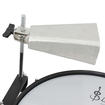 6 Inch Cowbell Silver Steel Alloy Cow bell Cheering Singing Bell Drum kit T5C8