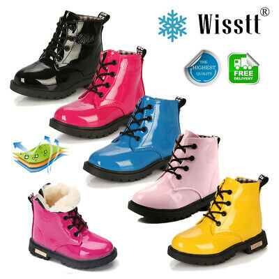 Winter Children kids Ankle Martin Boots Snow Baby Shoes Leather Boys Girls Boots
