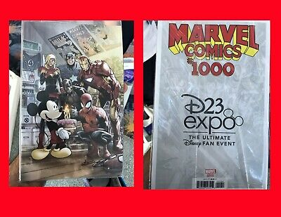 Disney D23 Expo 2019 Exclusive Marvel 1000 Ramos Variant Cover Spider-Man Mickey