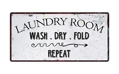 Personalized Laundry Room Wash Dry Fold Repeat Sign ENSA1001749