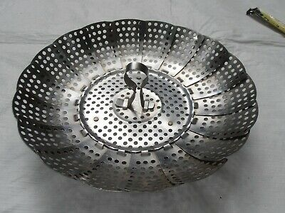 Vintage Stainless Steel Folding Serving Tray