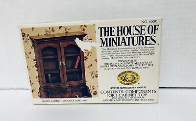 The House Of Miniatures Closed Cabinet Top Circa Late 1700's No.40001