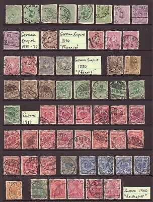 Early Germany Stamp Collection German Empire Reichspost Stamps Cancel Varieties