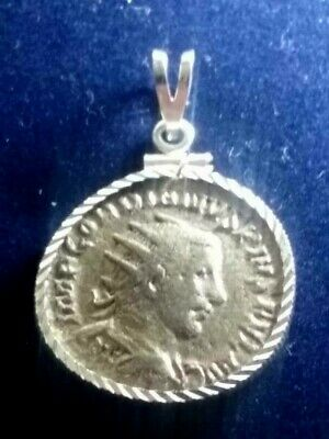 Gordian III Silver AR Ant Authentic Ancient Roman Coin Sterling Pendant Necklace