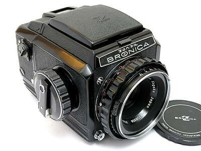 Bronica S2 Medium Format Film camera Black with Nikkor 75/2.8 Lens Excellent F/S