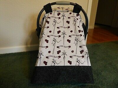 CLEARANCE**NIGHTMARE BEFORE CHRISTMAS*w/Jack Baby Car Seat Canopy-Cover