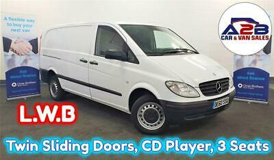 2010 60 Mercedes-Benz Vito 2.1 109 Cdi Long Wheel Base In White With Twin Slidin