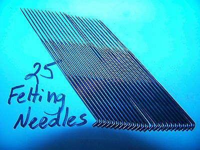 25 New Felting Needles-One Size-Your Choice-Triangle-3 1/2 Inch Length