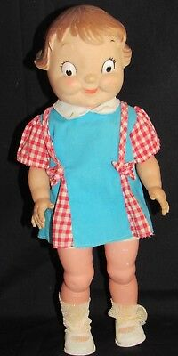 Vintage Campbell's Soup Hard Plastic Advertising Doll Girl Original Dress