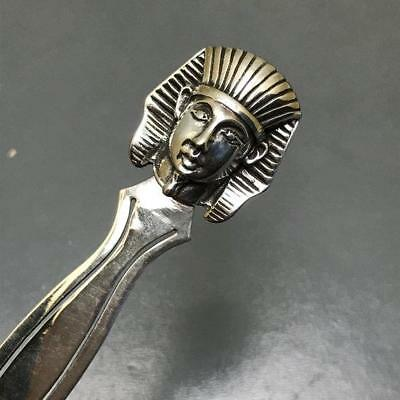 Vintage Egyptian revival Sterling Silver Repousse Egyptian Pharaoh Head Bookmark