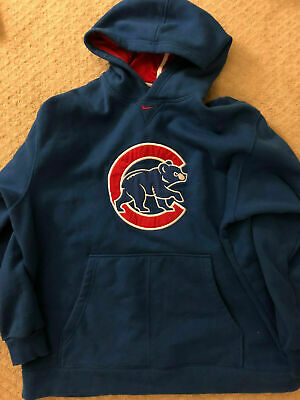 new product 645da d962d NIKE CHICAGO CUBS Hoodie Sweatshirt Men's XL pullover hooded heavyweight  Blue