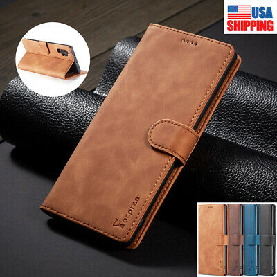 For Samsung Galaxy Note 10 Plus 5G Leather Magnetic Cards Flip Wallet Case Cover