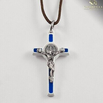 Saint Benedict Crucifix Pendant Traditional Style by Germoglio Assorted Colors