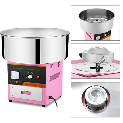Electric Candy Cotton Machine Sugar Fairy Floss Maker Stainless Steel Bowl Pink