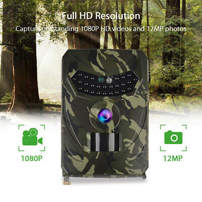 12MP HD 1080P Hunting Trail Camera Video Wildlife Scouting IR Night Vision Cam++
