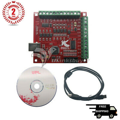 CNC USB MACH3 100Khz Breakout Board 4 Axis Interface Driver Motion Controller#SZ