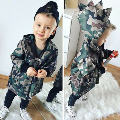 2019 Kids Baby Boys Camouflage Hoodies Zip Hooded Jacket Coat Windbreaker ·