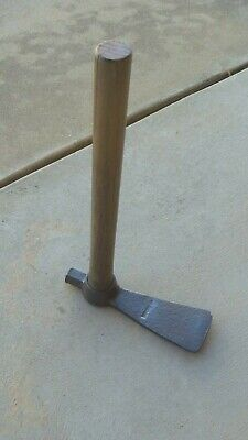 VINTAGE  RABBIT TRAP SETTER / HOE / AXE / HAMMER old tool .. look