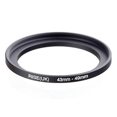 43-49mm 43mm-49mm 43-49 Matel Step-Up Filter Ring Stepping-up Adapter Ring