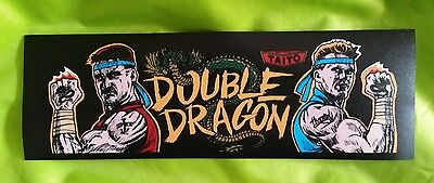 Double Dragon marquee sticker. 3.25 x 10.(Buy any 3 stickers, GET ONE FREE!)