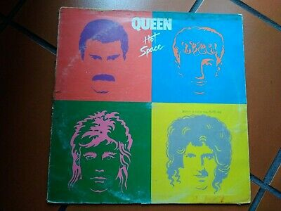 Lp Queen Hot Space Con Inner Sleeve Italy 1982 David Bowie Cover Good- Vinyl Vg+