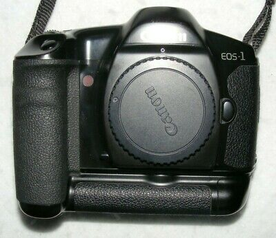 Canon EOS 1, 35mm SLR Camera (body only) + BP-E1 Battery Pack. Made in Japan