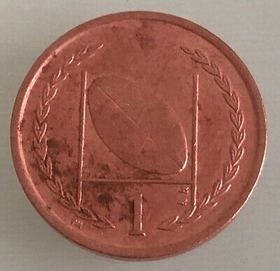 1998 Isle of Man Manx Rugby - 1p One Pence Coin