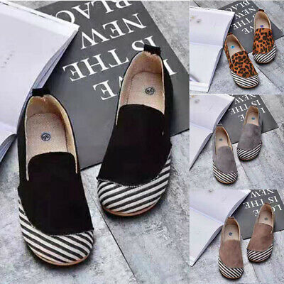 Women Ladies Loafers Summer Casual Slip On Comfy Flat Trainers Pumps Shoes Size