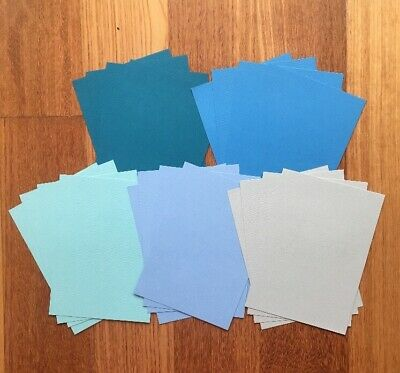 """9.5cm x 15cm """"BLUES"""" TEXTURED CARDSTOCK, 20 pack, 5 SHADES, 216gsm"""