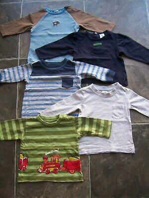Baby Boy's Long Sleeve Cotton Top x 5 Size 0 VGUC