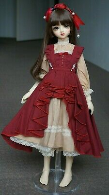 1/3 BJD Girl Arioso Red Dress Outfit SD SD13 SDGr Clothing Doll