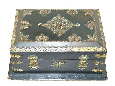 RARE Large Antique French 19th Century Egyptian Revival Sphinx Table Casket /Box