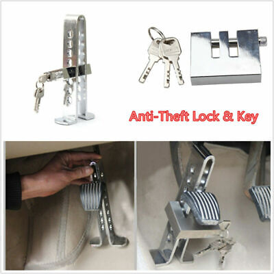 Stainless Steel Anti-Theft Security Lock Auto Car Clutch/Brake Lock 8 Hole+ Key&