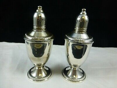 Vintage Duchin Creation Sterling Silver Salt & Pepper Shakers Glass Liners