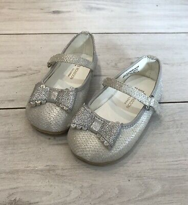 Girls Silver Party Birthday Wedding Monsoon Shoes Size 6