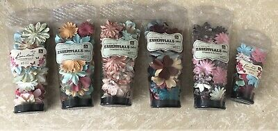 6 Tubes Of Prima Essentials Paper Flowers No9 - New
