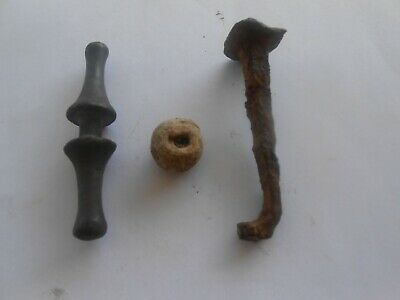 lot of 3 roman artifacts (bronze,lead,iron)-metal detecting find