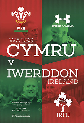 Wales v Ireland -  World Cup Warm-Up Match - 31 August 2019 - Mint Condition.