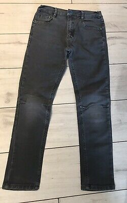 Boys Ted Baker Jeans Grey Distressed Black Age 12 Skinny Drainpipe Fit