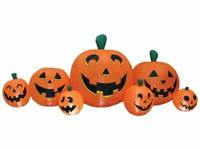 8.5 Ft Pumpkin Patch Inflatable Halloween Yard Haunted House Light Up LED New