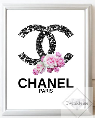 Fashion Inspired Logo Faux Glitter Art Picture - A4 Print