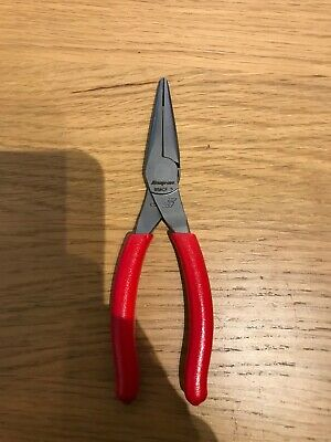 "Snap On 6"" Needle Nose Pliers In Red NEW"