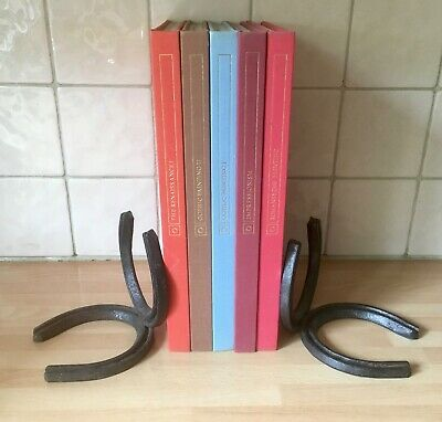 HORSESHOE BOOKENDS ~ Equestrian Forge Stables Country ~ Horse Shoe Book Ends