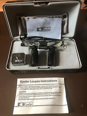Keeler Galilean 420 3.5x Prismatic Panoramic Loupes Operating Spectacles + case