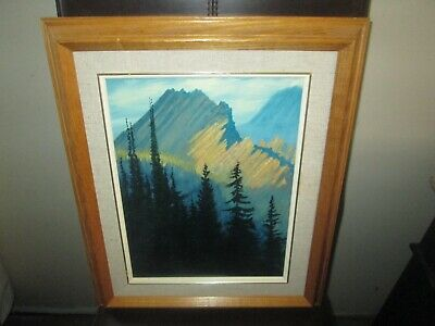 Original Canadian Oil Painting Ronald Wall Rocky Mountains