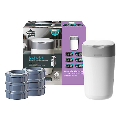 Tommee Tippee Twist and Click Sangenic Nappy Disposal System Bin starter pack