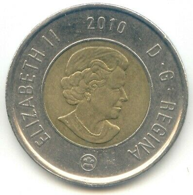 Canada 2010 Toonie Canadian $2 Dollars Twoney Toony Two Dollar EXACT COIN SHOWN