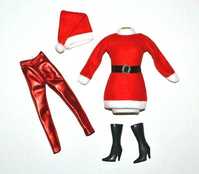 Barbie Doll Clothes Lot, Santa Elf Girl Scout Holiday Christmas Outfit Set